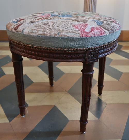 Louis XVI Carved Stool