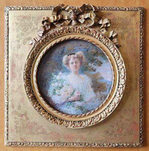 Miniature Portrait of a Lady