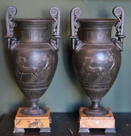 Pair of Greek Revival Vase