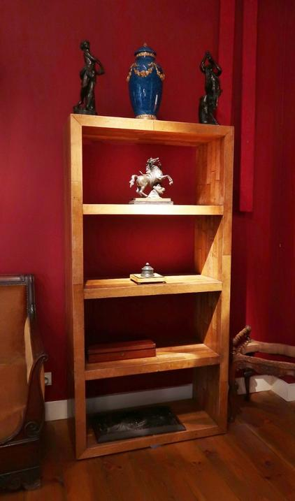 Pair of Wooden Shelves made of old parquet